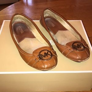 Michael Kors Lillie Moccasin Leather Shoes - Sz 8